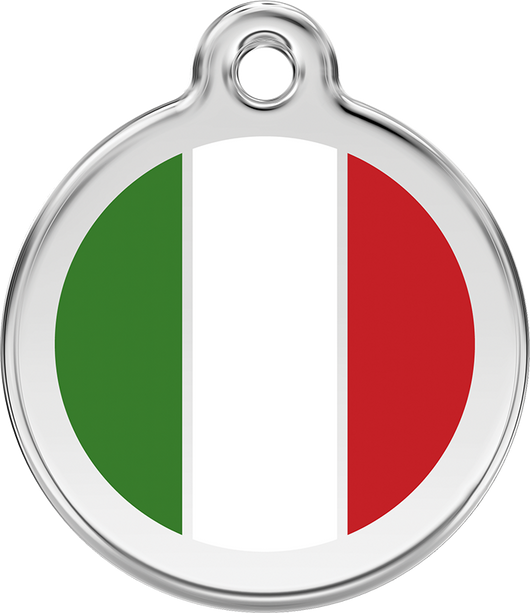 Red Dingo - Italian Flag ID Tag | Krazy For Pets