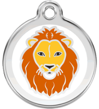 Red Dingo - Lion ID Tag | Krazy For Pets