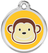 Red Dingo - Monkey ID Tag | Krazy For Pets