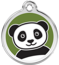 Red Dingo - Panda ID Tag | Krazy For Pets