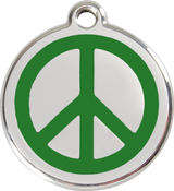 Red Dingo - Peace ID Tag | Krazy For Pets