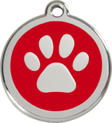 Red Dingo - Paw Print ID Tag | Krazy For Pets