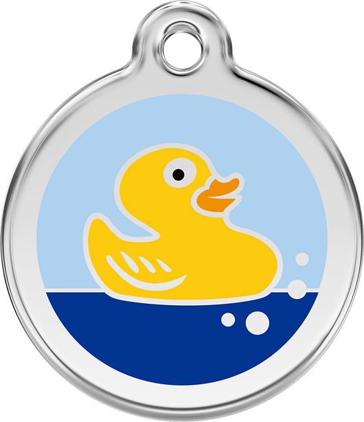 Red Dingo - Rubber Duck ID Tag | Krazy For Pets