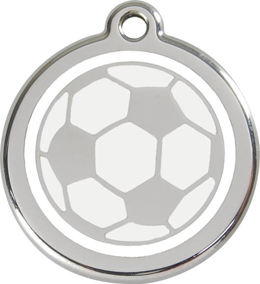 Red Dingo - Soccer Ball ID Tag | Krazy For Pets