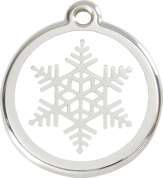 Red Dingo - Snow Flake ID Tag | Krazy For Pets