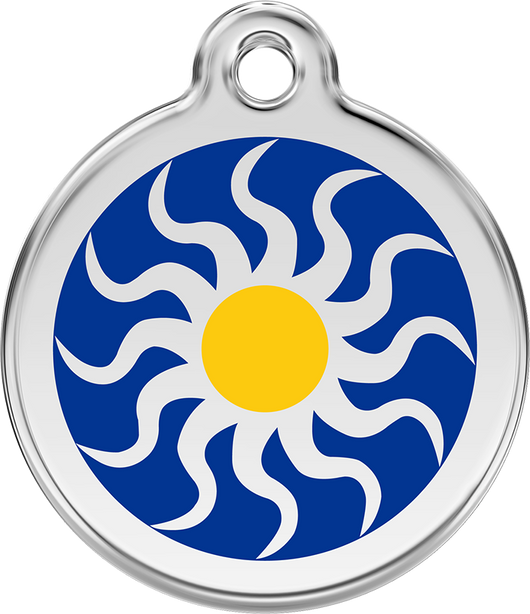 Red Dingo - Tribal Sun ID Tag | Krazy For Pets