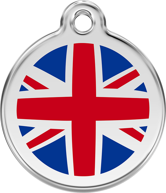 Red Dingo - UK Flag ID Tag | Krazy For Pets