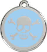 Red Dingo - Skull & Cross Bones ID Tag | Krazy For Pets