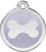 Red Dingo - Glitter Bone ID Tag | Krazy For Pets