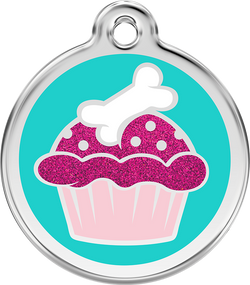 Red Dingo - Cupcake ID Tag | Krazy For Pets