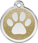 Red Dingo - Glitter Paw ID Tag | Krazy For Pets