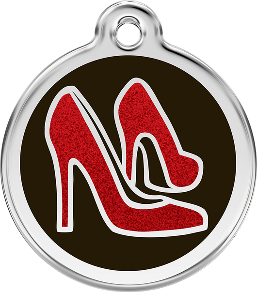 Red Dingo - Red Shoe ID Tag | Krazy For Pets