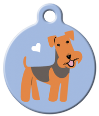 Dog Tag Art - Airedale Terrier Dog ID Tag | Krazy For Pets