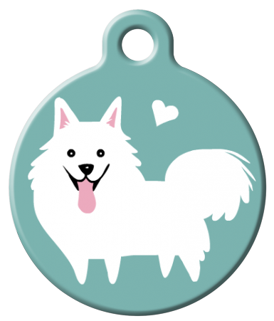 Dog Tag Art - American Eskimo Dog ID Tag | Krazy For Pets