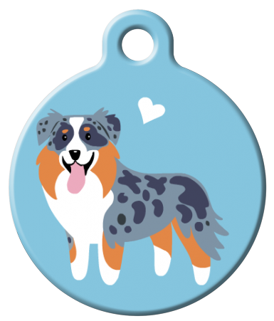 Dog Tag Art - Australian Shepherd Dog ID Tag | Krazy For Pets