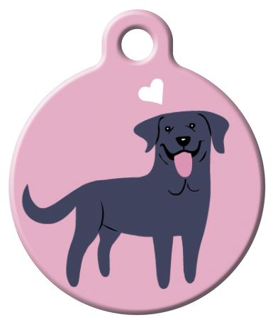 Dog Tag Art - Black Labrador Dog ID Tag | Krazy For Pets