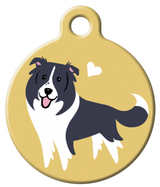 Dog Tag Art - Border Collie Dog ID Tag | Krazy For Pets