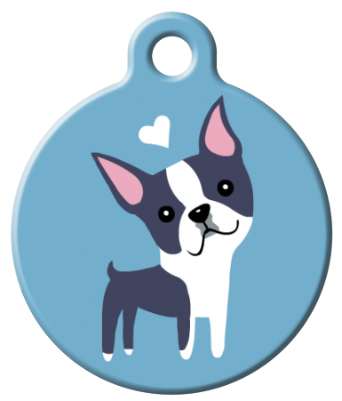 Dog Tag Art - Boston Terrier Dog ID Tag | Krazy For Pets