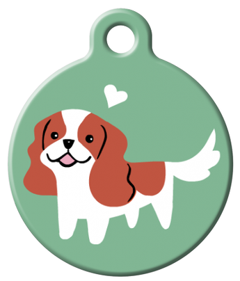 Dog Tag Art - Cavalier Spaniel Dog ID Tag | Krazy For Pets