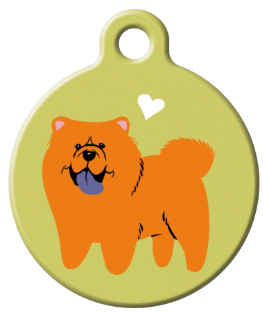 Dog Tag Art - Chow Chow  Dog ID Tag | Krazy For Pets