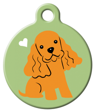 Dog Tag Art - Cocker Spaniel Dog ID Tag | Krazy For Pets
