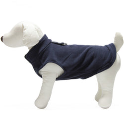 Gooby - Navy Fleece Vest | Krazy For Pets