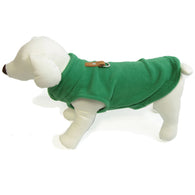 Gooby - Green Fleece Vest | Krazy For Pets