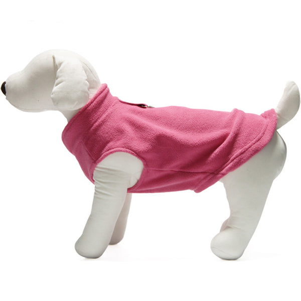Gooby - Pink Fleece Vest | Krazy For Pets