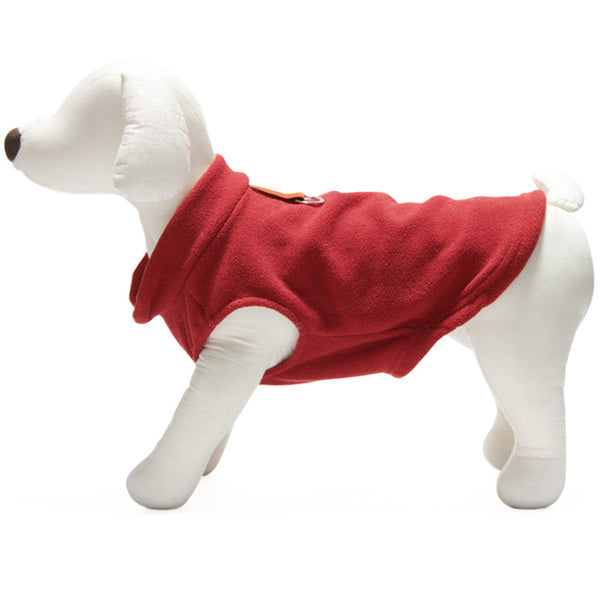 Gooby - Red Fleece Vest | Krazy For Pets