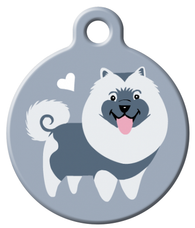 Dog Tag Art - Keeshond Dog ID Tag | Krazy For Pets