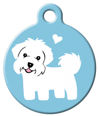 Dog Tag Art - Maltese Dog ID Tag | Krazy For Pets