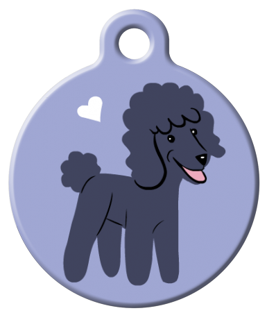 Dog Tag Art - Poodle Dog ID Tag | Krazy For Pets