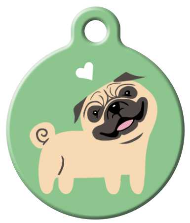 Dog Tag Art - Pug Dog ID Tag | Krazy For Pets