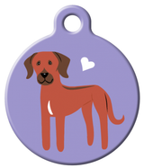 Dog Tag Art - Rhodesian Ridgeback Dog ID Tag | Krazy For Pets