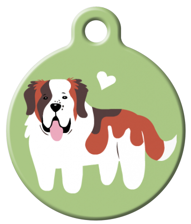 Dog Tag Art - Saint Bernard Dog ID Tag | Krazy For Pets
