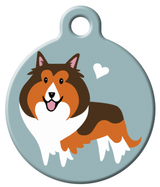 Dog Tag Art - Shetland Sheepdog Dog ID Tag | Krazy For Pets