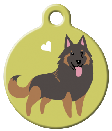 Dog Tag Art - Tervuren Dog ID Tag | Krazy For Pets