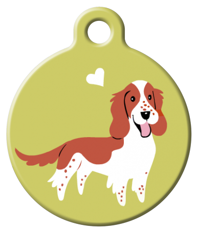 Dog Tag Art - Welsh Springer Spaniel Dog ID Tag | Krazy For Pets