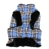 Doggy Design - Flannel Brown & Blue Plaid Alpine All-Weather Coat | Krazy For Pets