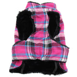 Doggy Design - Flannel Raspberry Pink & Turquoise Plaid Alpine All-Weather Coat | Krazy For Pets