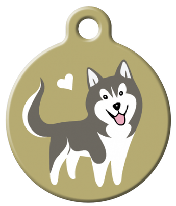 Dog Tag Art - Husky Dog ID Tag | Krazy For Pets