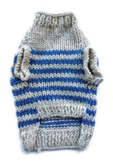 Sam's Wardrobe - Blue Striped Puppy Sweater | Krazy For Pets