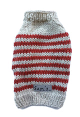 Sam's Wardrobe - Paprika Striped Puppy Sweater | Krazy For Pets