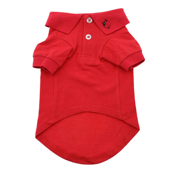 Doggy Design - Flame Scarlet Red Polo Shirt | Krazy For Pets