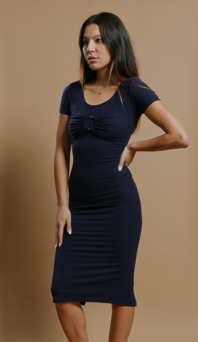 Layla Dress in Indigo Blue