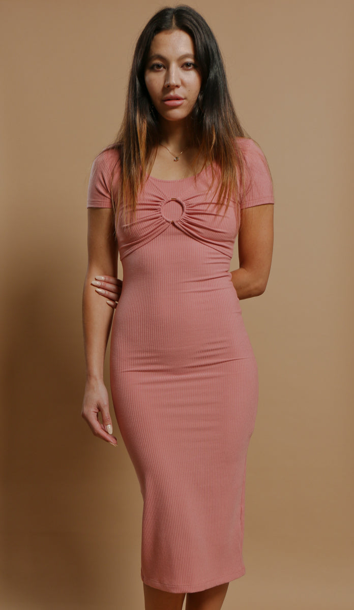 Layla Dress in Rose Dust