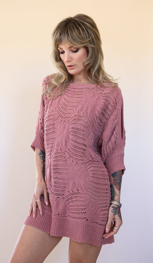 90's Blush Knit Peekaboo Dress Size S/M