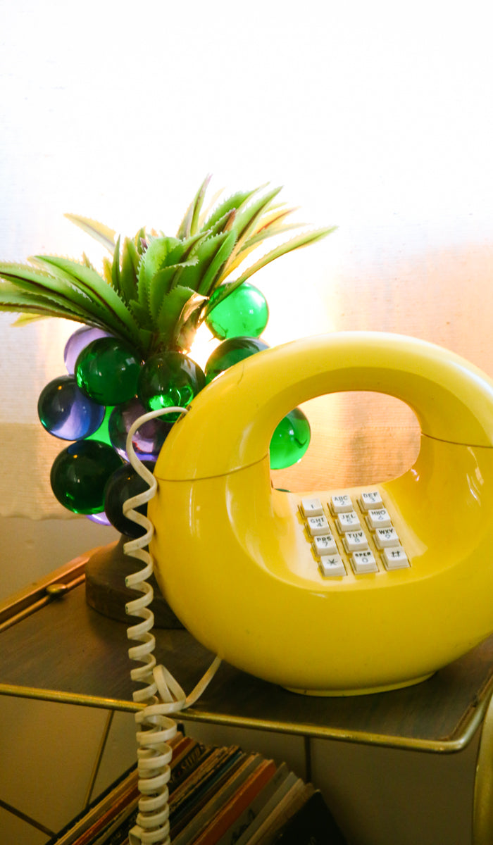 70's Vintage Yellow O Telephone