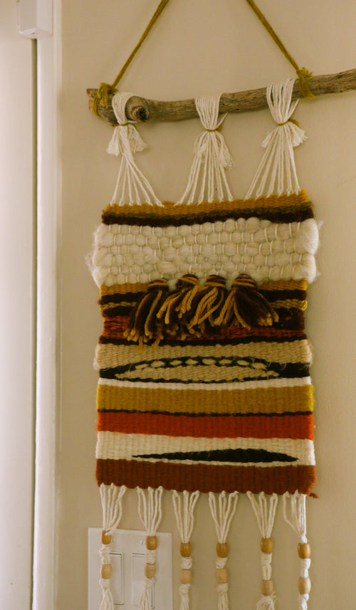 1970's Vintage Earth Tones Wall Hanging