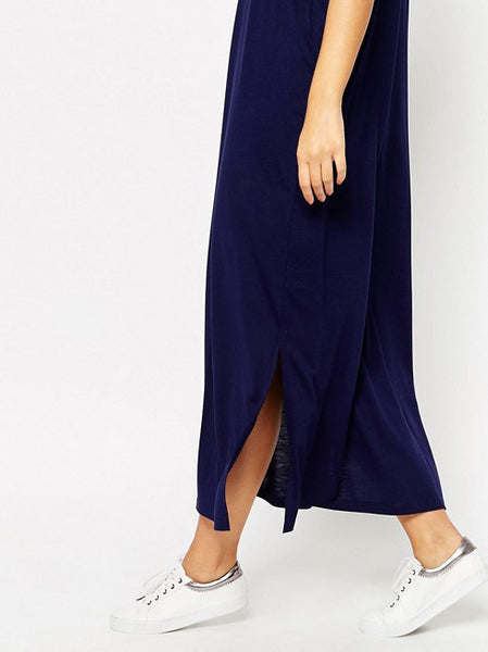 Casual Maxi Dress with Split Sides